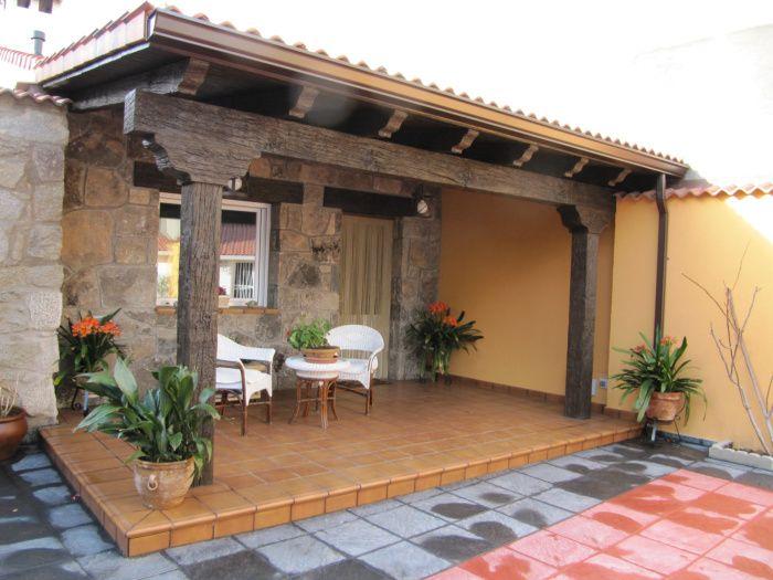 prgolas porches cenadores prefabricados en hormign imitacin madera - Cenadores De Madera