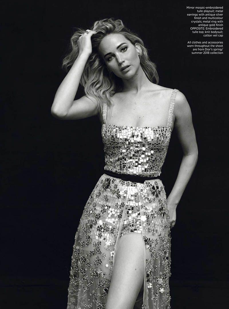 54fb9dbaba2 Jennifer Lawrence Enchants in Dior for Harper s Bazaar Singapore ...