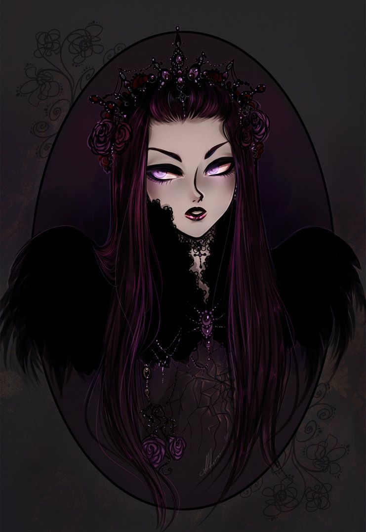 Evil Raven By Ashiori Chan On Deviantart Sketches Drawings