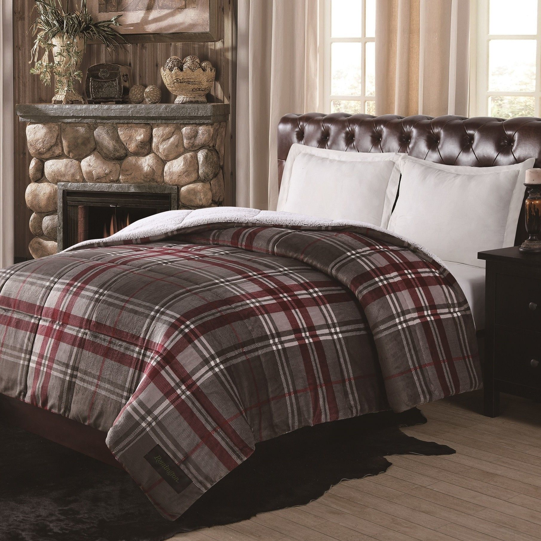 quilt comforter gingham bedspread with check checkered and bedding white buffalo style literarywondrous ease cream red beige