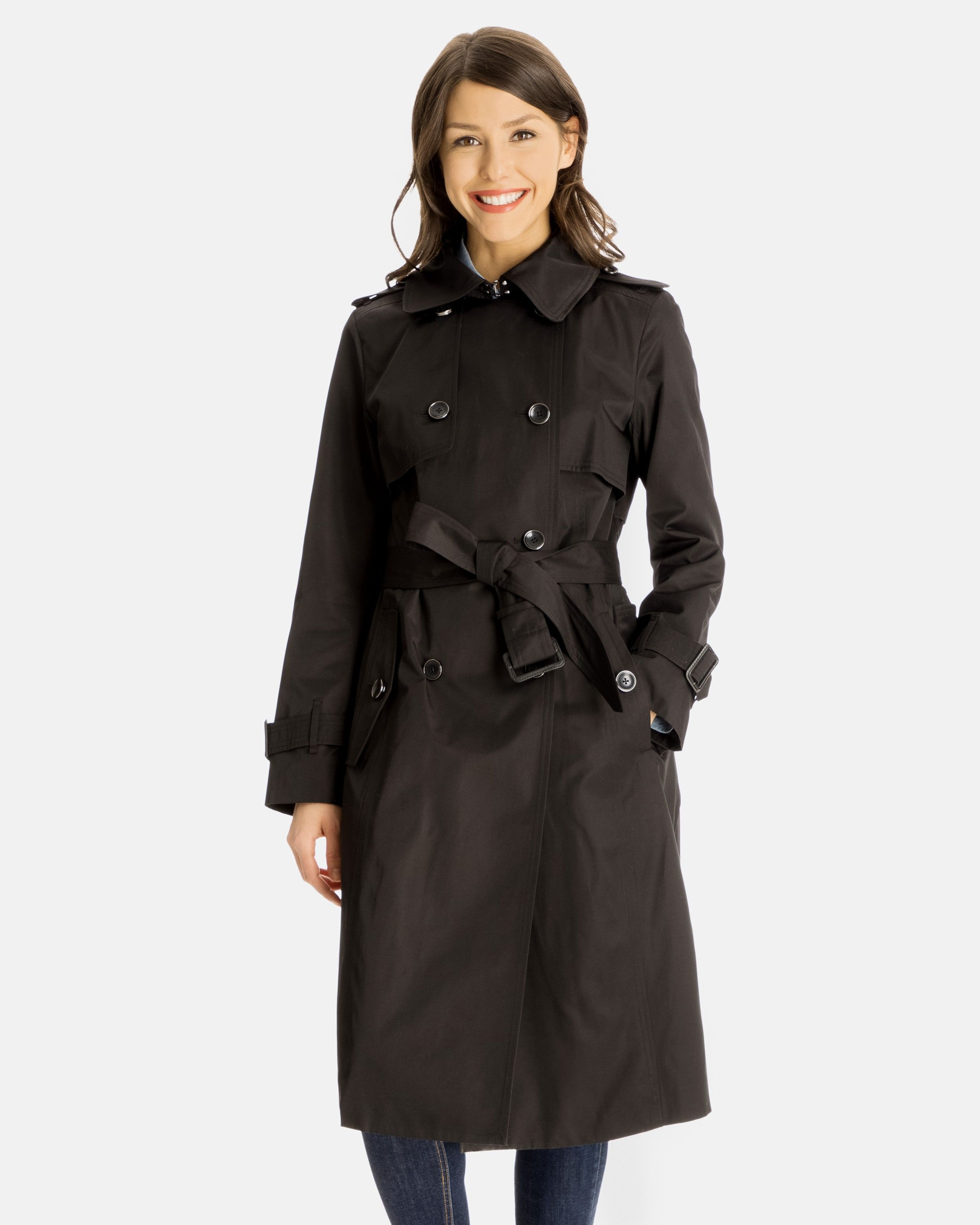 e7f22bb5f74 Fern Double-Breasted Trench Coat for Women - Gun Flaps