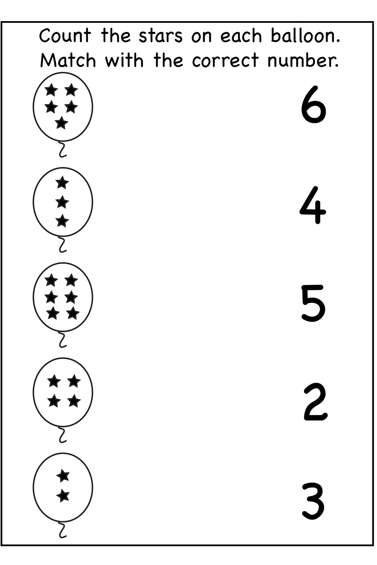 Kindergarten Number Recognition Worksheets