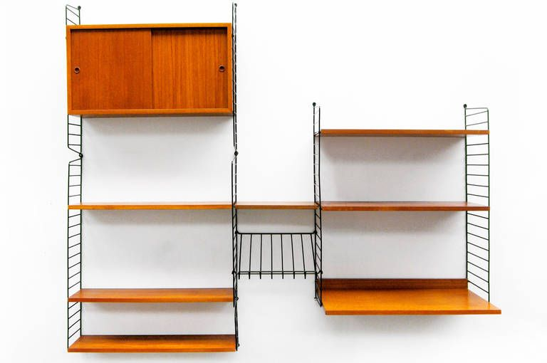 View This Item And Discover Similar Shelves And Wall Cabinets For Sale At    A String Series Shelving System By Nisse Strinning, Sweden.