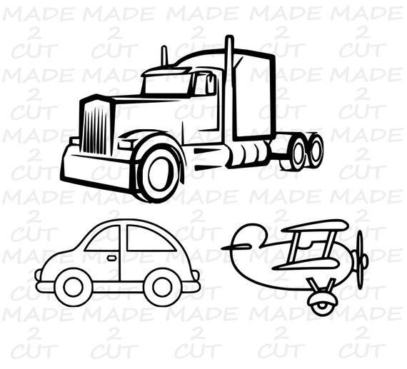 Semi Truck Svg 18 Wheeler Car Airplane Svg Silhouette Studio Design