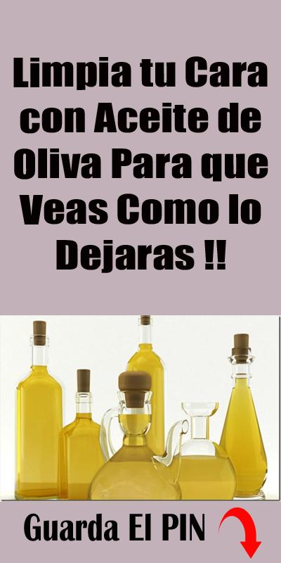 Limpia Tu Cara Con Aceite De Oliva Para Que Veas Como Lo Dejaras Beauty Personal Care Soap
