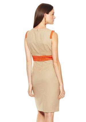 ANNE KLEIN DRESS Sleeveless Sheath Dress with Belt