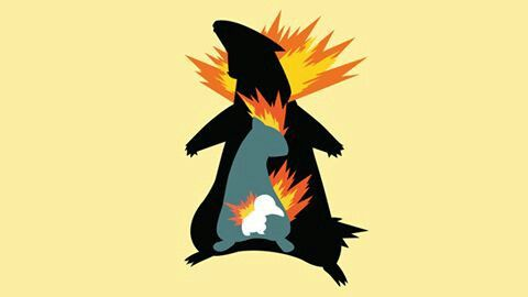 Cyndaquil Quilava Thyplosion Minimalist With Images Cartoon Art