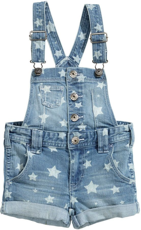 d1ddd577 H&M Bib Overall Shorts - Light denim blue - Kids on shopstyle.com ...