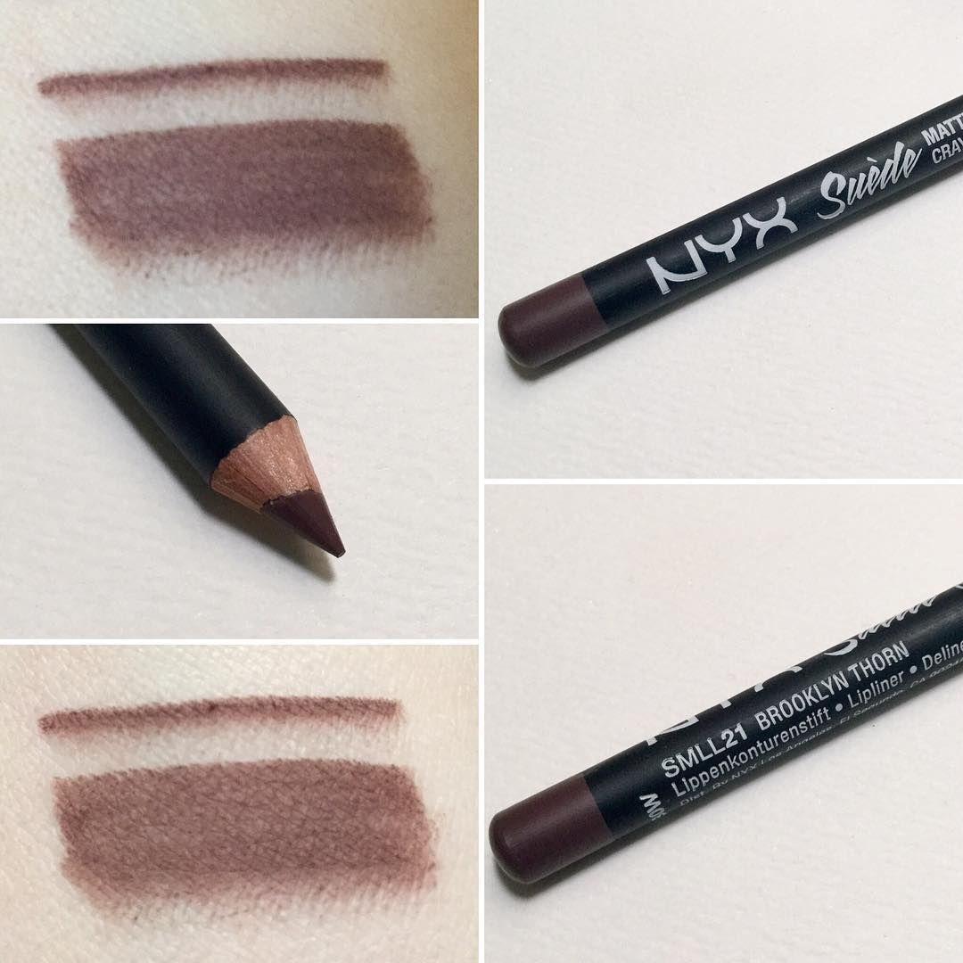 Nyx Cosmetics Suede Matte Lip Liner In Brooklyn Thorn My Liners