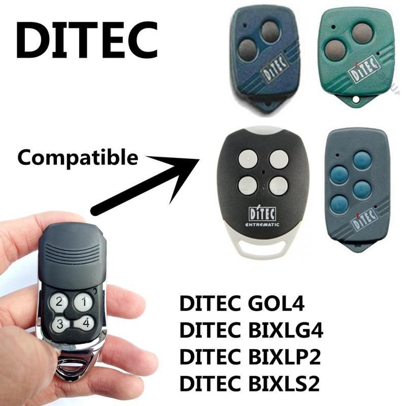 Compatible Ditec Bixlp2 Bixls2 Ditec Gol4c Gol4 Remote Control 433 92mhz Rf Rolling Code Wireless Control Remoto Remote Control Garage Door Remote Control Remote