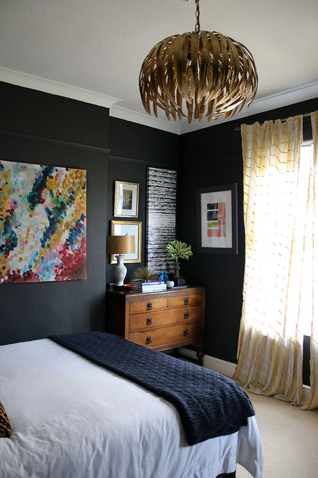 48 Ways To Make A Dark Room Brighter Bedrooms Pinterest Interesting Black Bedroom