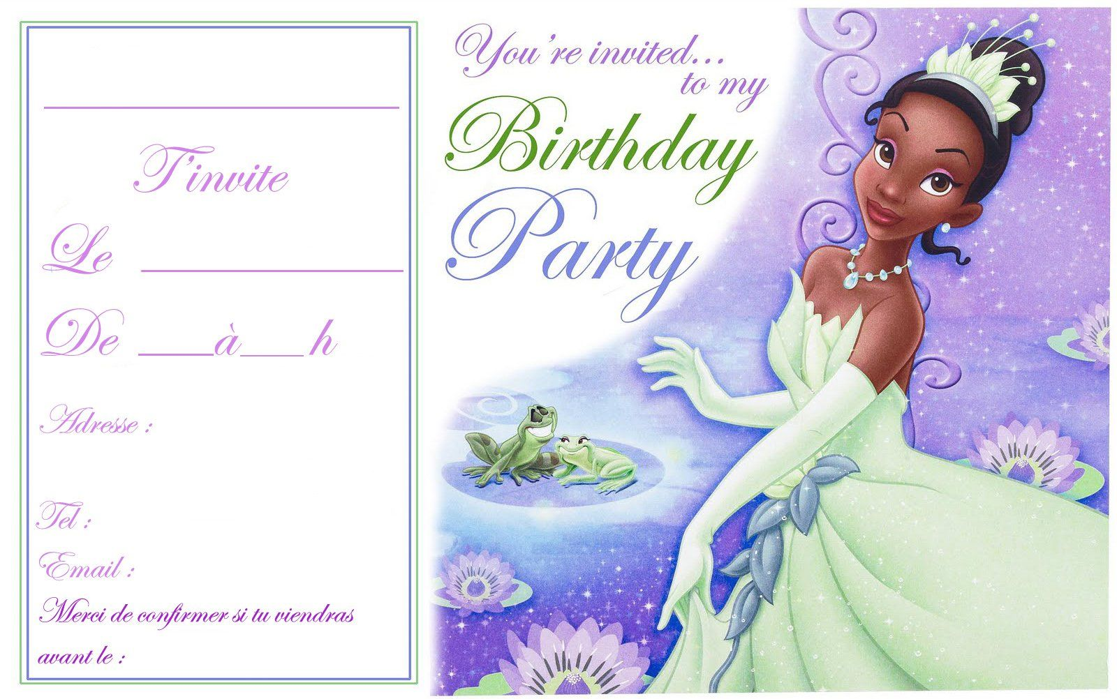 Carte Invitation Anniversaire Fille Carte D Invitation