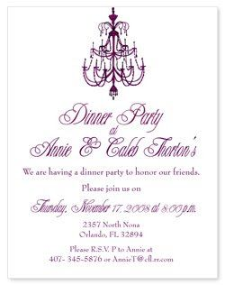 Dinner Party Invitations Chocolate Is A Girl S Best Friend