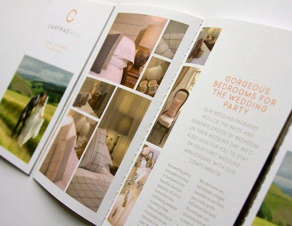 The wedding brochure I designed for Carfraemill | Bespoke designs ...