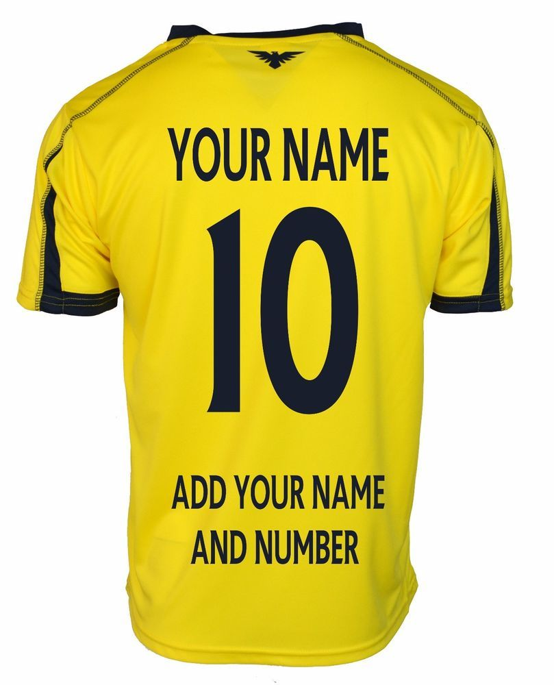 huge discount 083bd a75c3 Details about Manchester City Soccer Jersey * Add Any Name ...