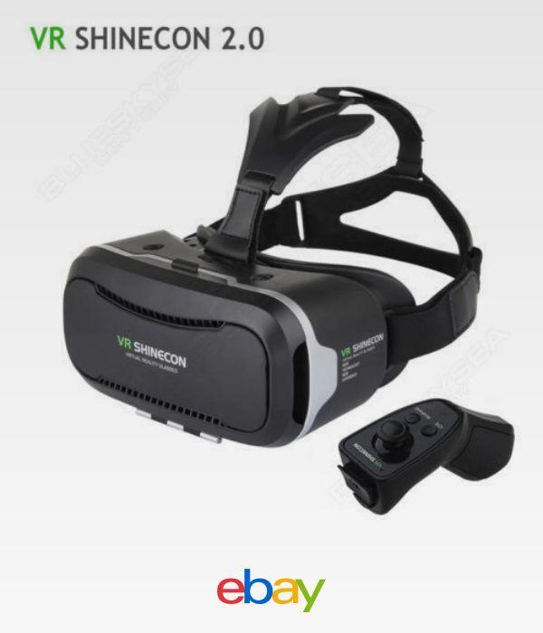 fe942b70ce6 Vr Shinecon 2.0 3D Glasses Head Video Virtual Reality Headset+Bluetooth  Control