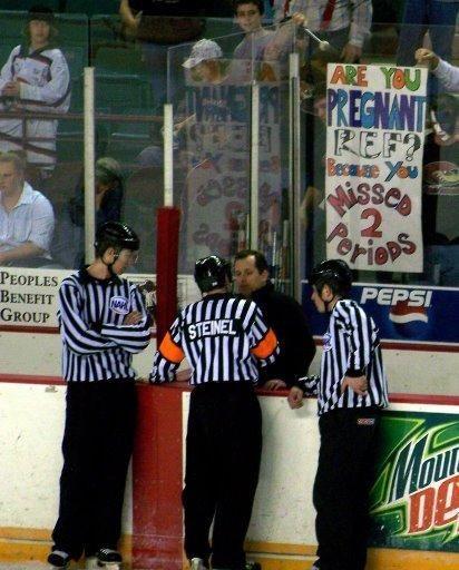 Pregnant Refereee 2 Funny Stuff Hockey Sports Humor Hockey Games