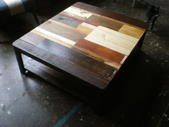 the hitchcock coffee table is a poetic composition of oak