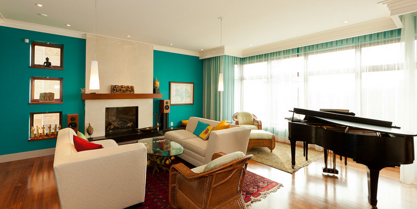 10 Amazing Turquoise Living Room Walls