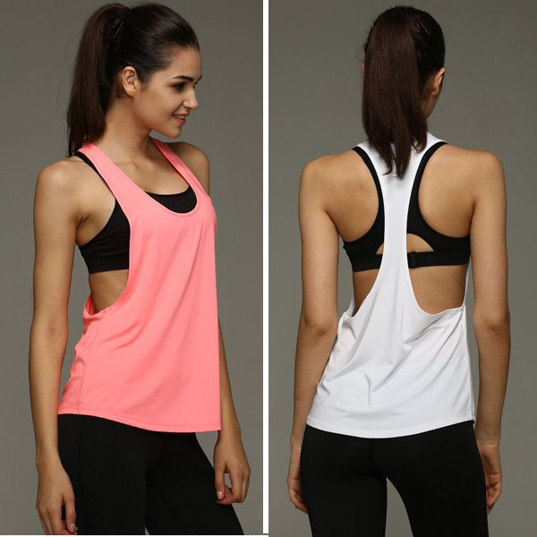 Women Gym Sports Shirt Yoga Tops Sleeveless Vest Fitness Runnging Clothes  Camisetas Deporte Mujer Women Quick