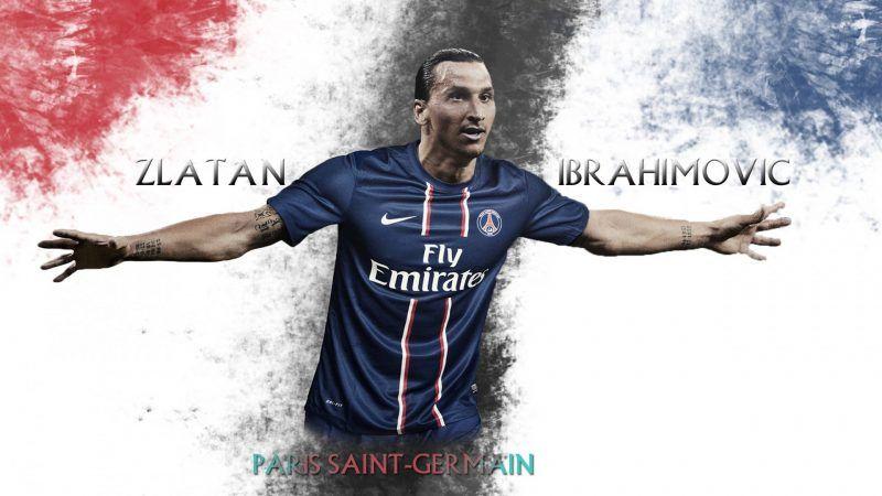 خلفيات زلاتان إبراهيموفيتش بقميص باريس سان جيرمان Zlatan Ibrahimovic Paris Saint Mens Tops