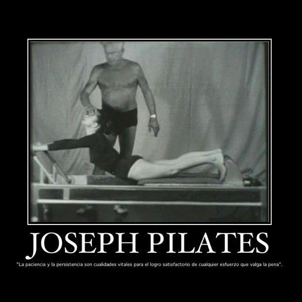 """@inspirahpilates's photo: """"La paciencia y la persistencia son cualidades vitales para el logro satisfactorio de cualquier esfuerzo que valga la pena. -Joseph #Pilates <3 www.inspirahpilates.com <3"""""""