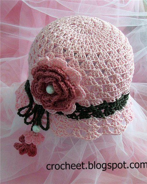 تشكيلة قبعات كروشية للبنات مع البترونات Crochet Hat Pattern Kids Crochet Hat Pattern Crochet Kids Hats