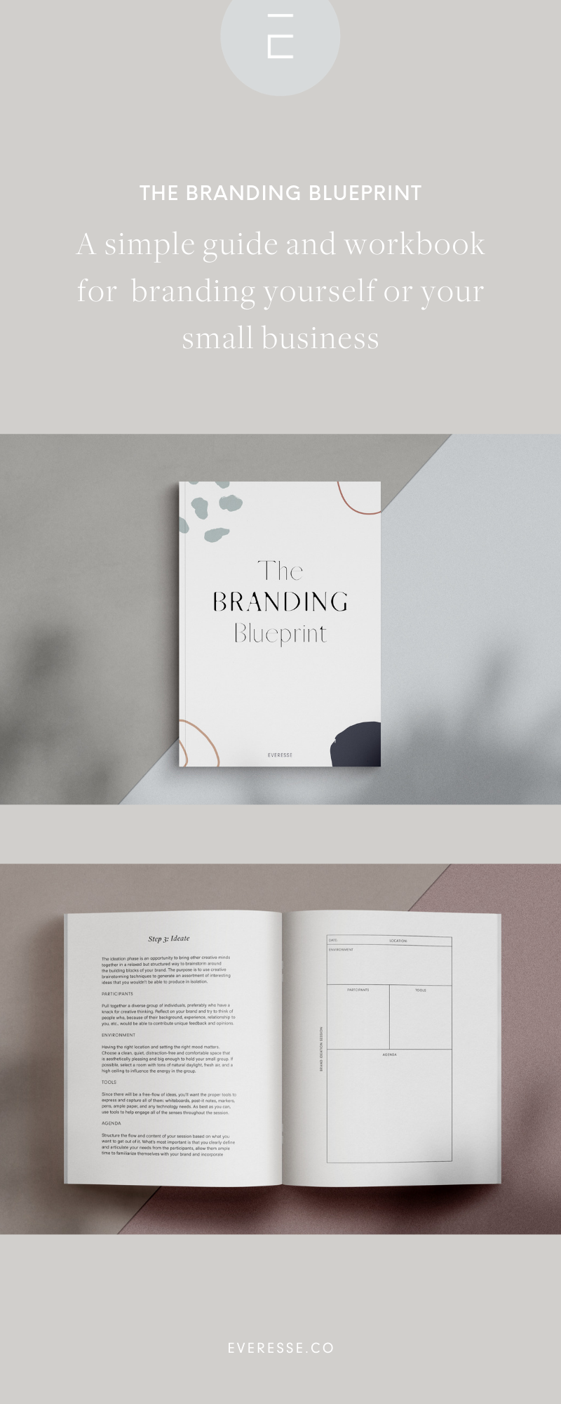 The Branding Blueprint Workbook is part of Branding, Small business branding, Branding process, Modern branding, Brand strategy, Brand book - You can design a brand from scratch, without spending a fortune, if you understand the basics that we outline in our simple guide to branding yourself or your business    By being smart and efficient, you can design a brand strategy and brand identity that resonates with your intended audience and d