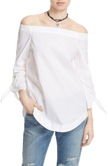 06a712b41581 FREE PEOPLE  Show Me Some Shoulder  Off The Shoulder Cotton Blouse.   freepeople  cloth