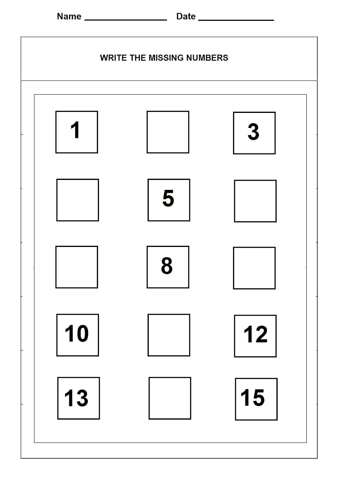 Number Worksheet Grade K