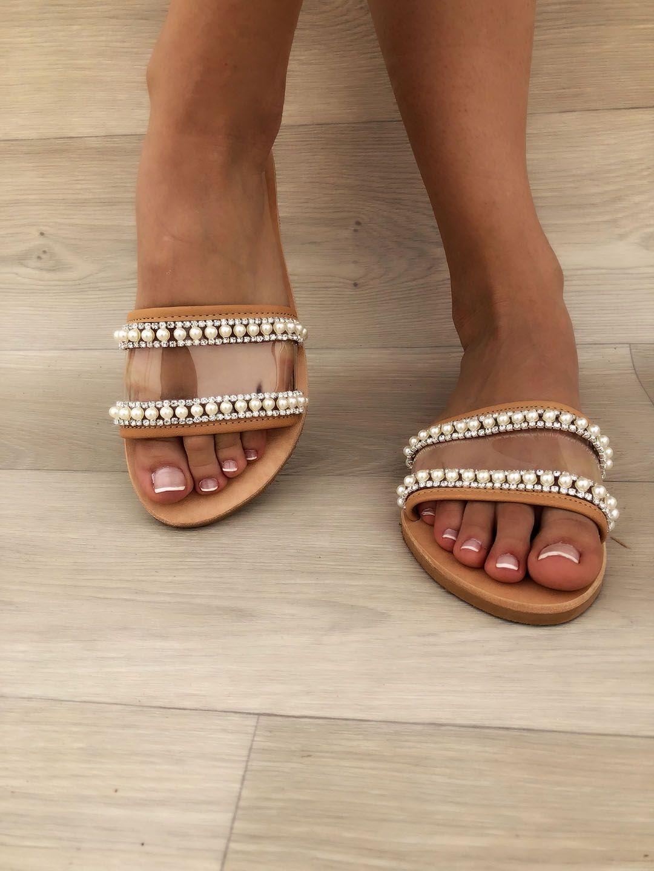 89c32ec4fed Women s Pearls Sandals in 2019