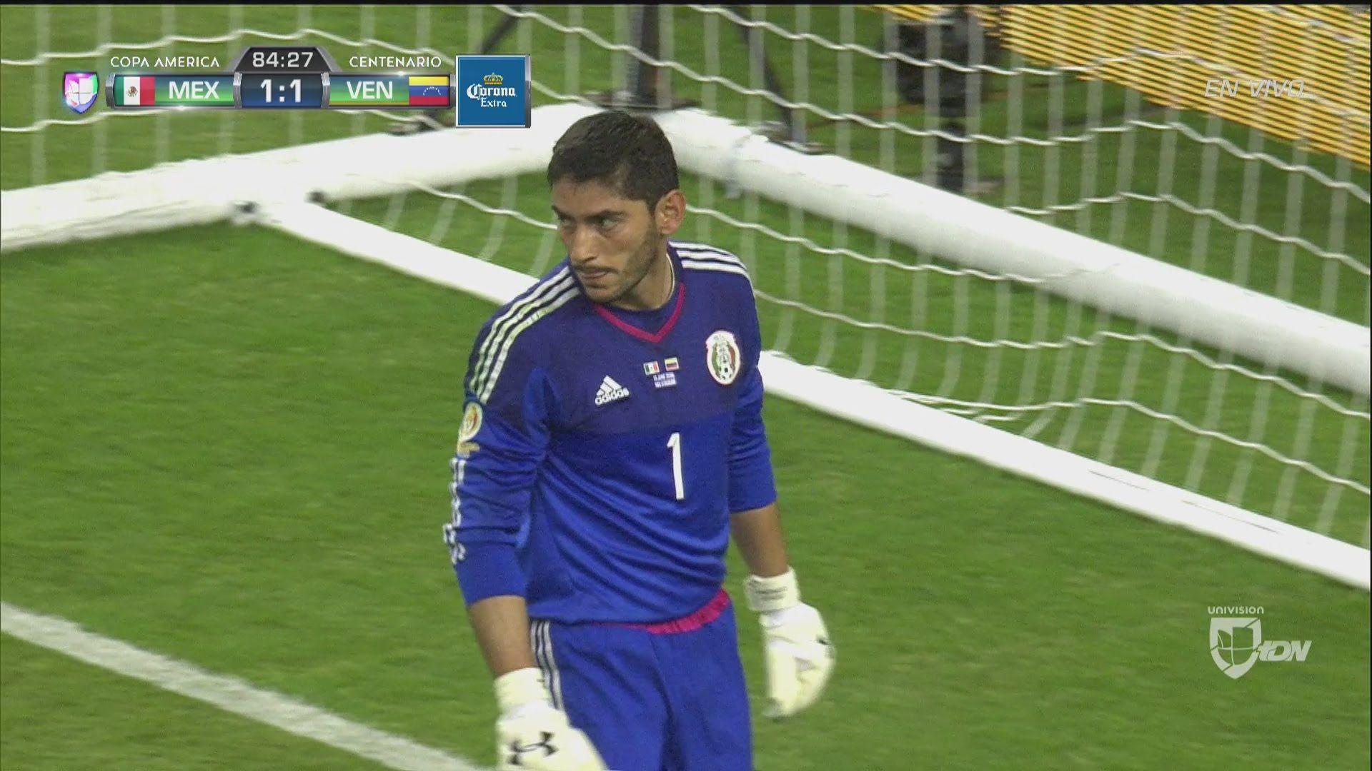 3c939ae5c Jesus Corona (Mexico) saves an overhead kick from Josef Martinez (Venezuela)