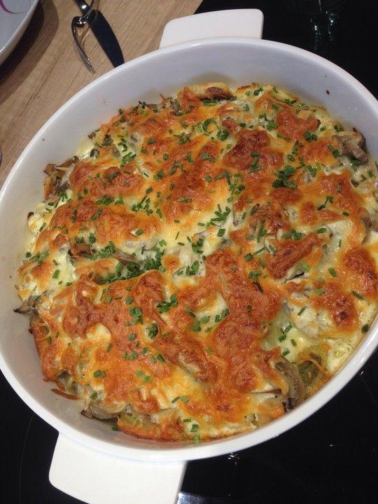 Maultaschen-Frischkäse-Auflauf von Tiary | Chefkoch