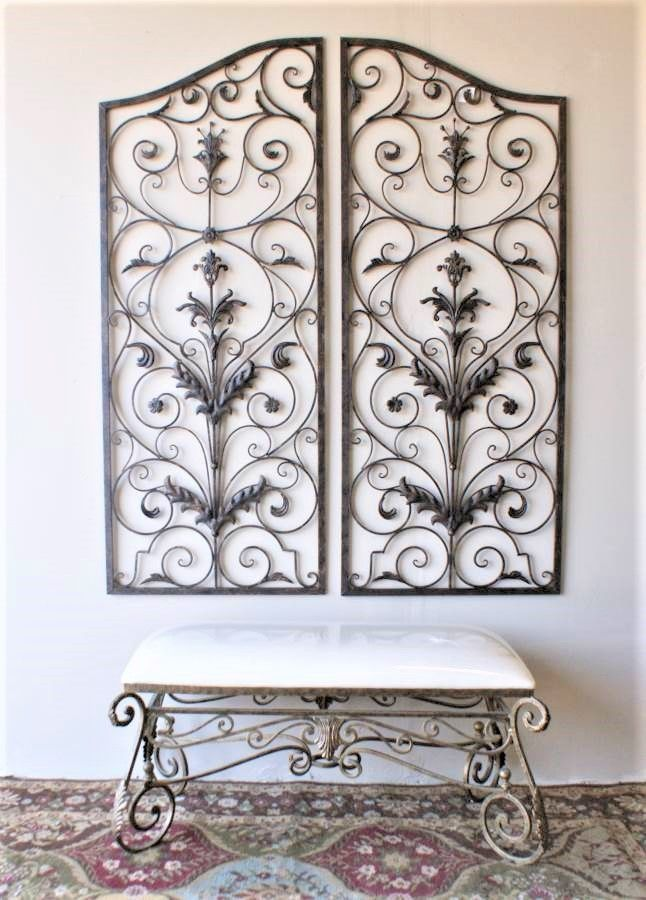Orianna 60 Inch Wrought Iron Wall Grille Set Of 2 Iron Wall