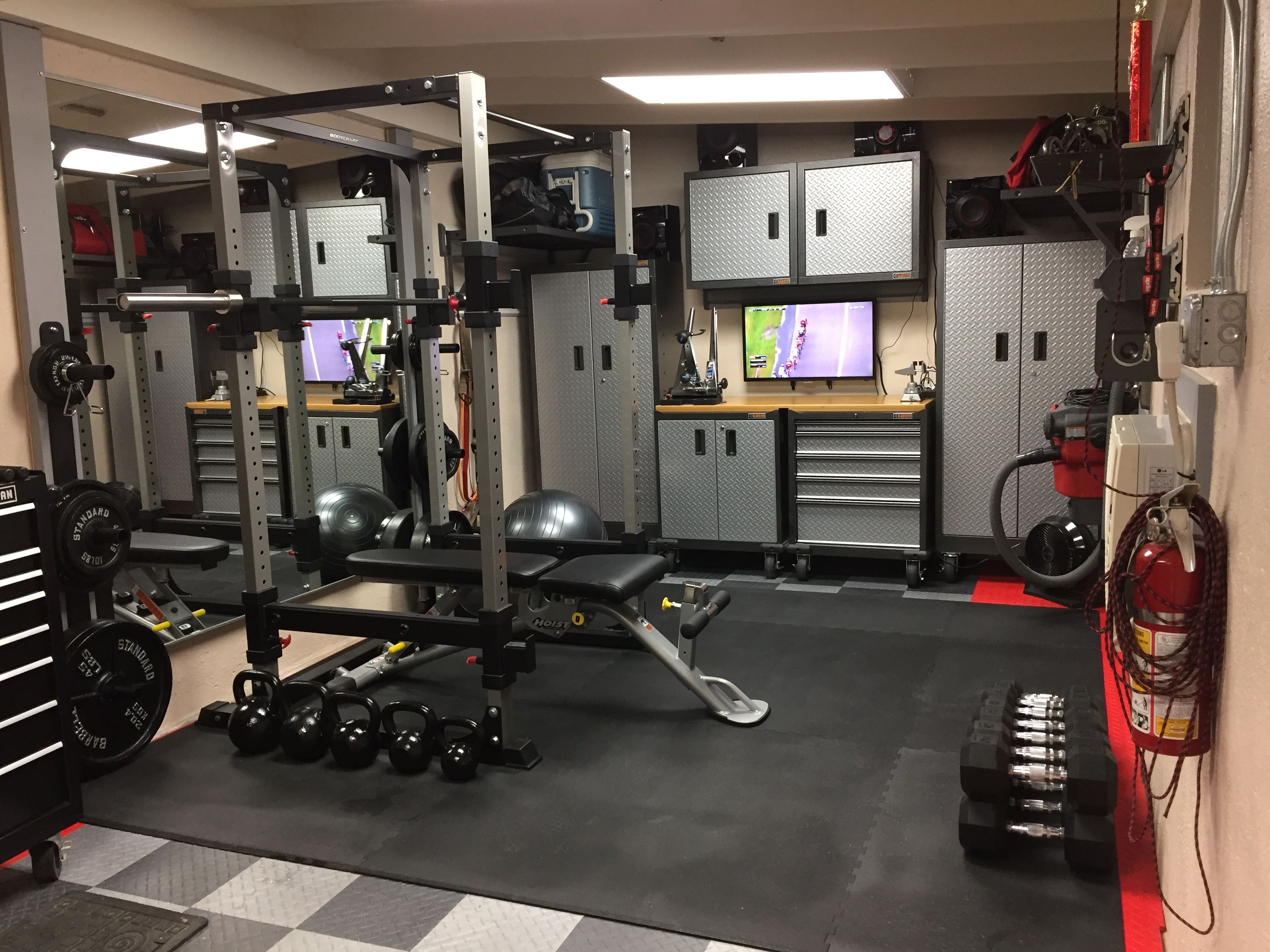 My multi purpose home gym home gym in home gym garage
