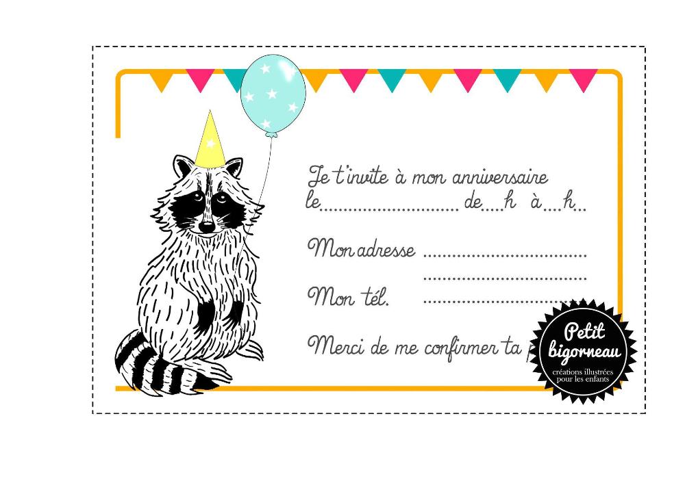 carte invitation anniversaire garcon 10