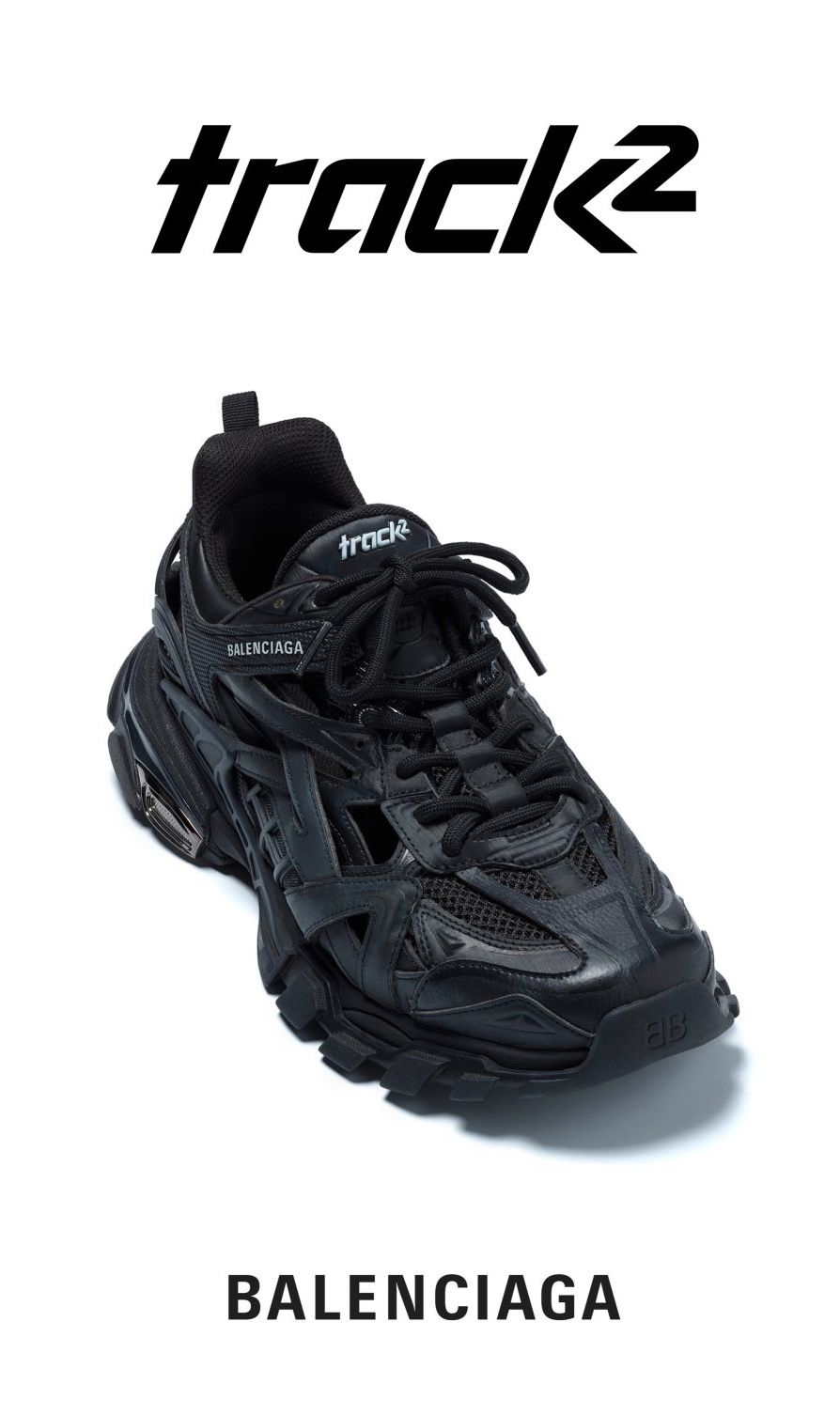 BALENCIAGA SS19 TRACK 2 TRAINERS In Noir Colorway | Sneakers