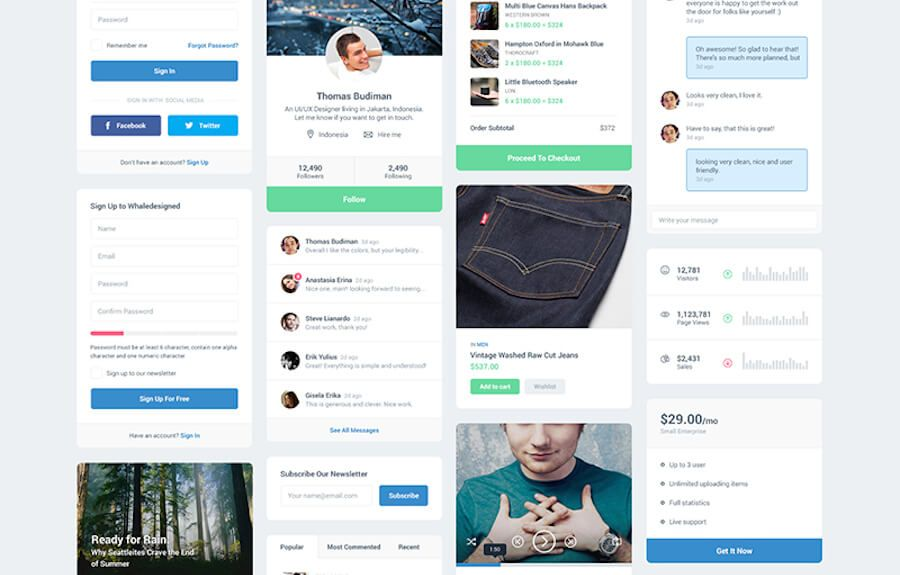 MFD UI kit, crafted by Thomas Budiman, it contains 12 widget elements. You can use them for anything that can fit