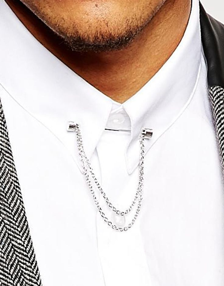 237eb3ec6876 Image 3 of ASOS Collar Bar With Chain