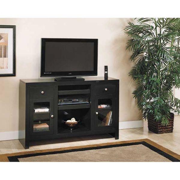 tall tv console. Del Mar Tall TV Console - Black 33CON-BL Tv