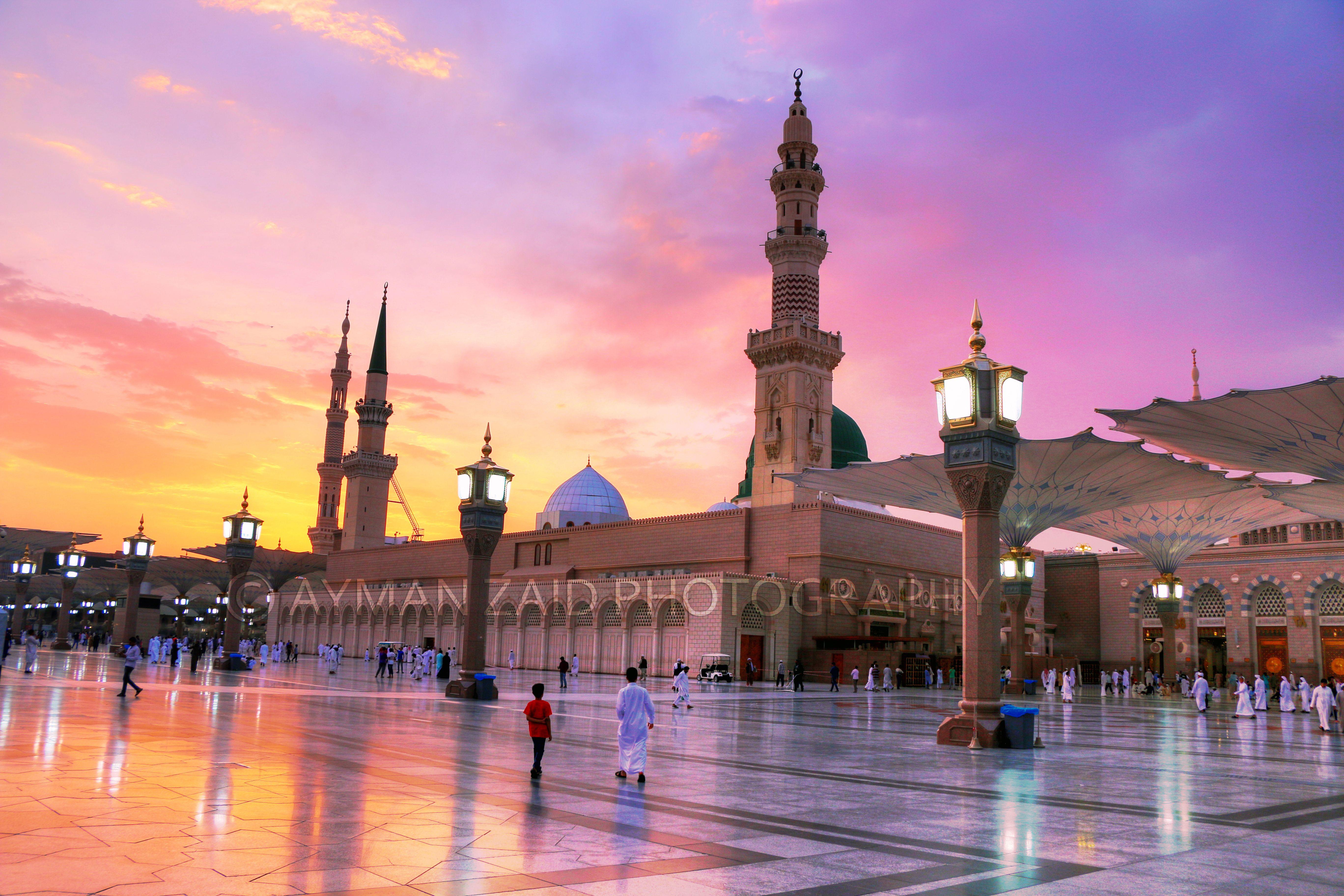 المسجد النبوي الشريف المدينة المنورة