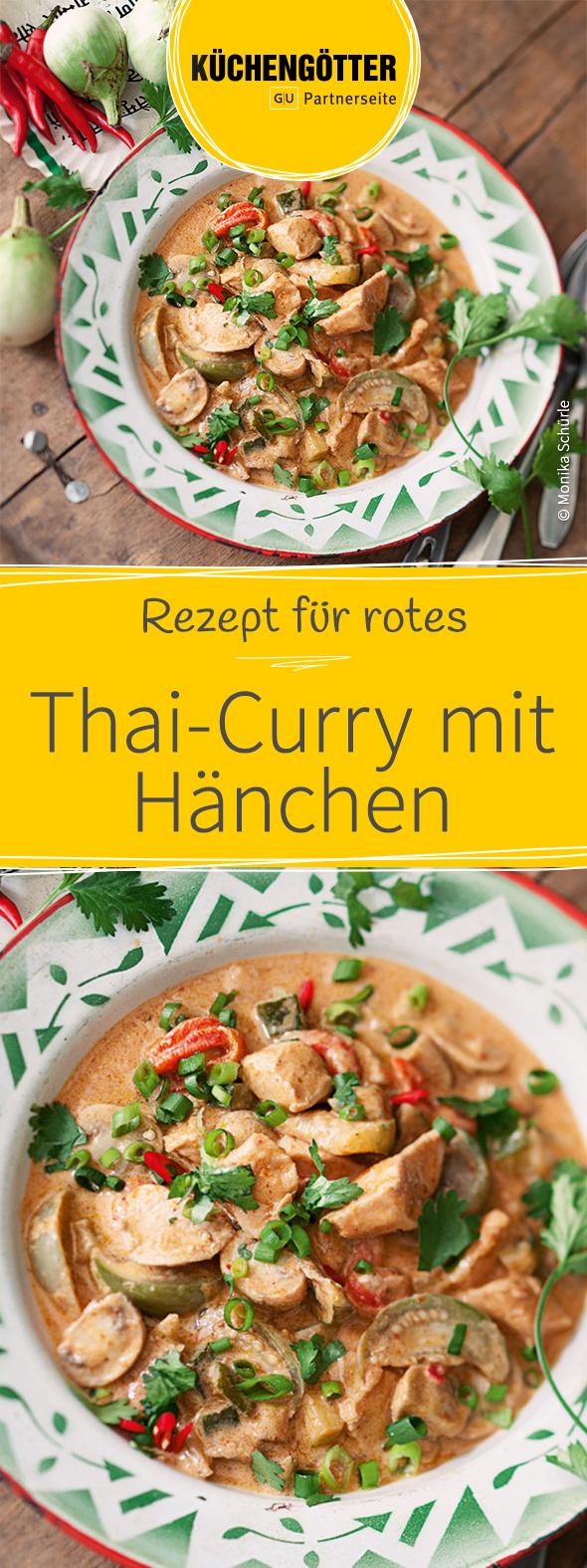 Rotes Thai-Curry mit Hähnchen #thaifoodrecipes