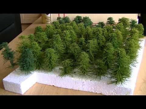 N scale vlog 65  Denenbomen maken deel 2  Making pine trees