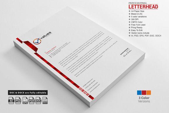 corporate letterhead template creativework247 stationery design