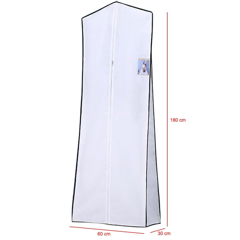 Breathable Wedding Dress Garment Bag Dust Cover Storage Travel Bag Foldable Protective Cover For We Wedding Dress Garment Bags Dress Garment Bags Evening Gowns