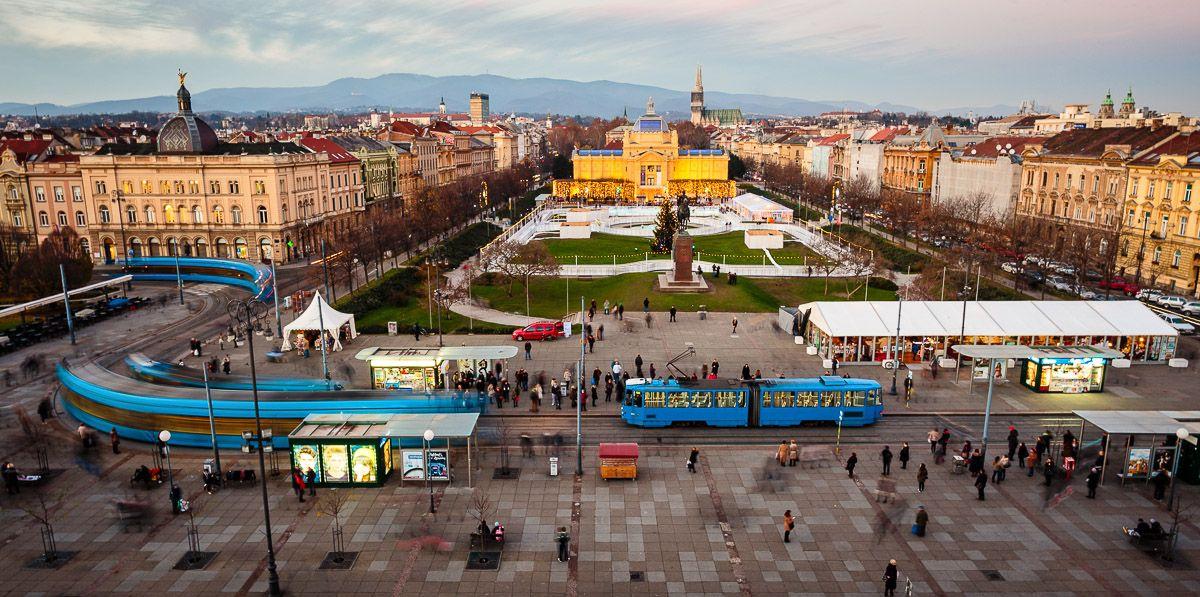 Zagreb S Railway Station Zagreb Railway Tram Winter Art Pavilion Skyview Zagreb Croatia Places To Visit