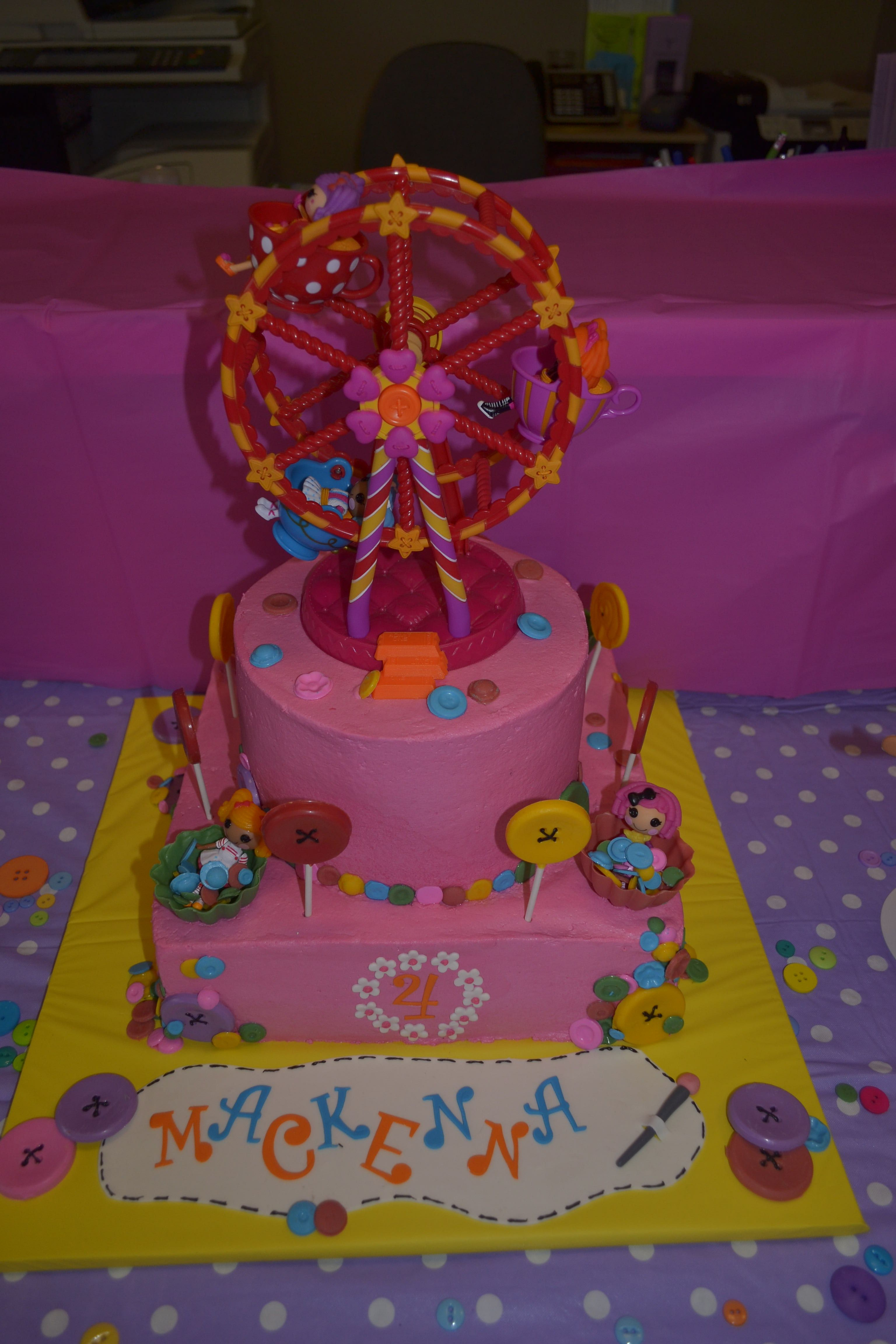 Great Lalaloopsy Cake With Ferris Wheel And Dolls Inside Of