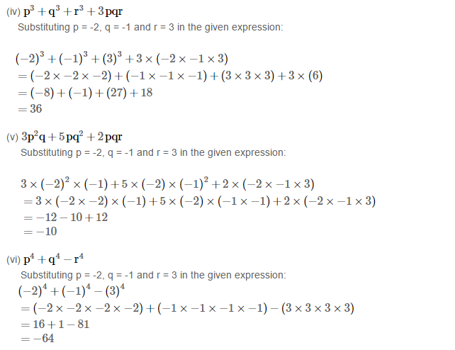 Algebraic Expressions Rs Aggarwal Class 6 Maths Solutions Ex 8b Maths Solutions Algebraic Expressions Class 6 Maths