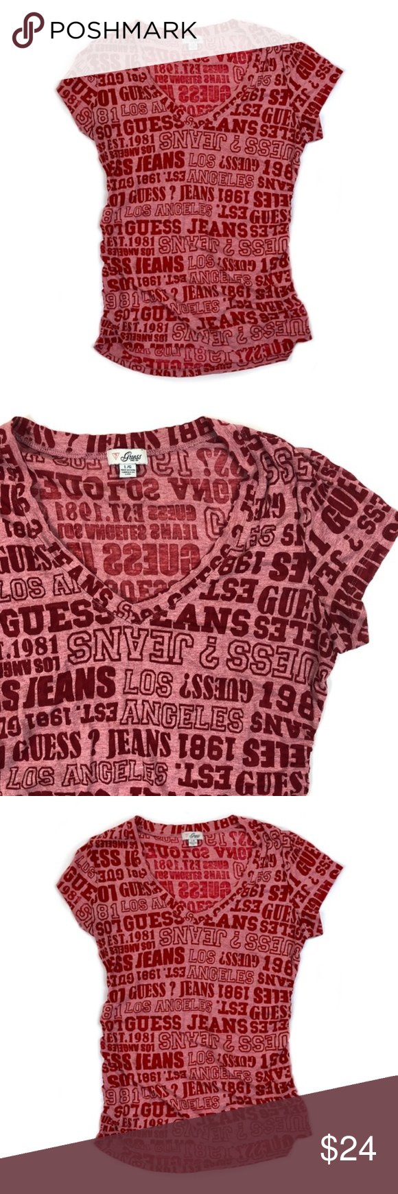 Guess Est 1981 Print For Clothing