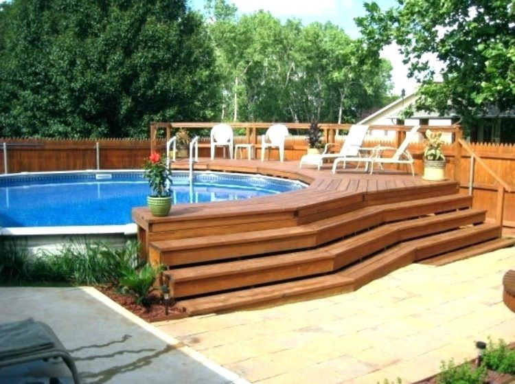 20 Luxurious Above Ground Pool Designs Oval Pool Swimming Pool